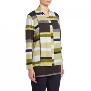 Tigi Womens Striped Scarf Top