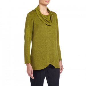 Tigi Animal Angled Hem Cowl Neck Tunic