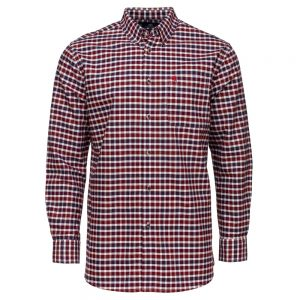 Carson Mens Soft Cotton Small Check Long Sleeve Shirt