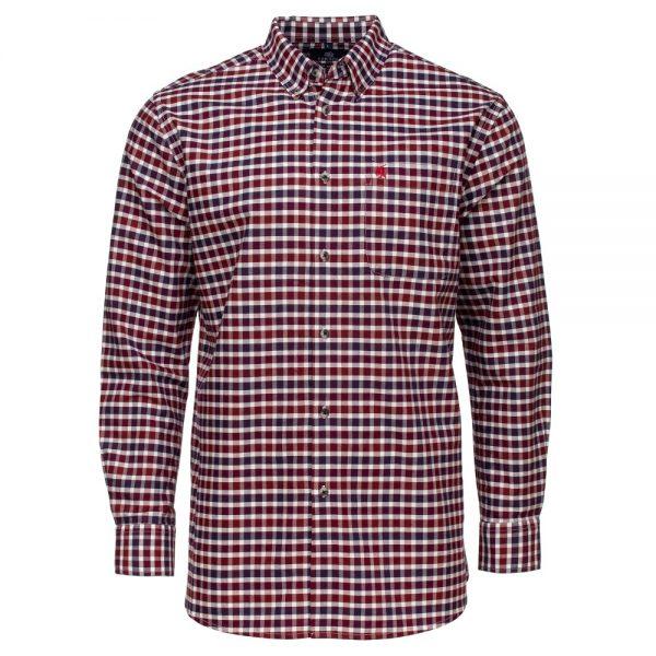Carson Mens Soft Cotton Small Check Long Sleeve Shirt