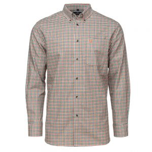Carson Mens Brushed Cotton Tattersall Long Sleeve Shirt