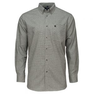 Carson Mens Brushed Cotton Glen Check Long Sleeve Shirt