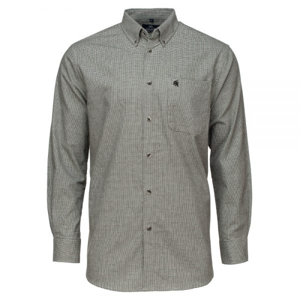 Carson Mens Brushed Cotton Glen Check Long Sleeve Shirt