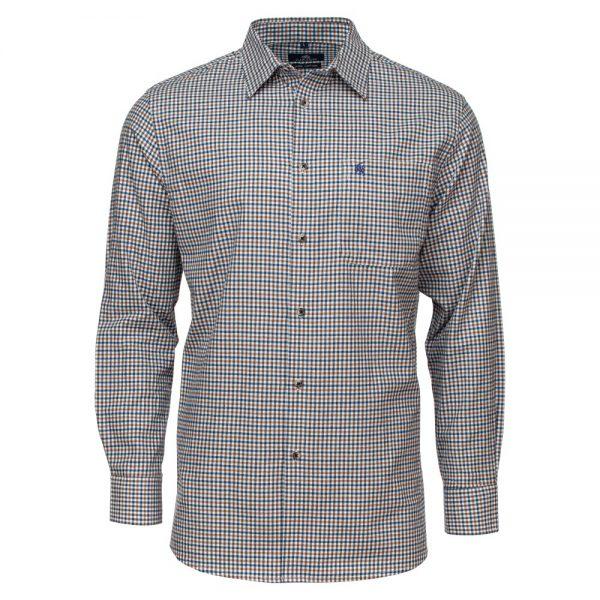 Carson Mens 'Gun Club' Check Soft Cotton Long Sleeve Shirt
