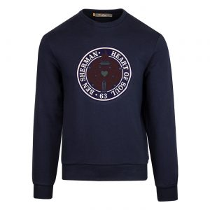 ben sherman-flock-rose-sweatshirt-navy-front